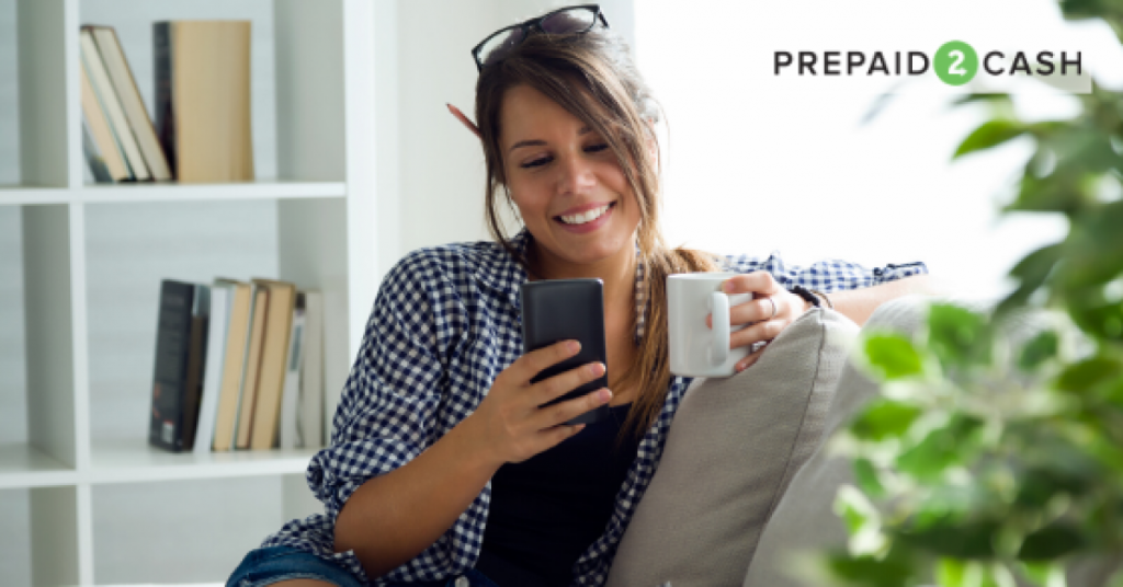 Image of woman looking at smartphone